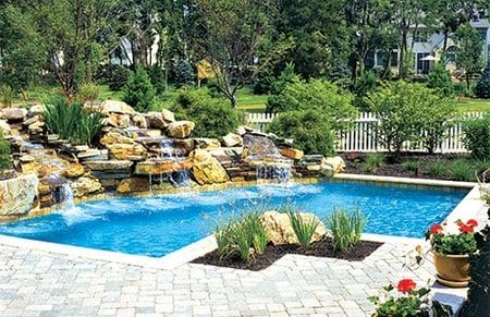 Natural Rock Waterfalls in Swimming Pools: 12 Inspiring Examples in ...