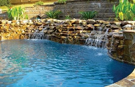 2rock Waterfalls Inground Pool BIRM