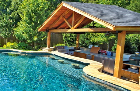 Swim Up Bar Full Outdoor Kitchen