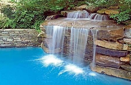 5rock Waterfalls Inground Pool PHILLY DS