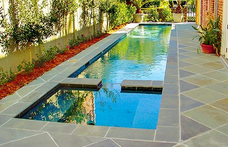 custom-lap-pool-with-square-spa