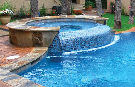pool-with-infinity-spa-tiled-spillway