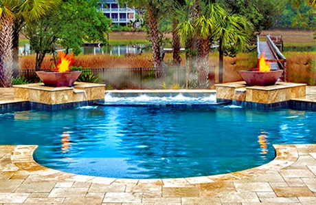 copper-fire-bowls-on-custom-pool-water-features