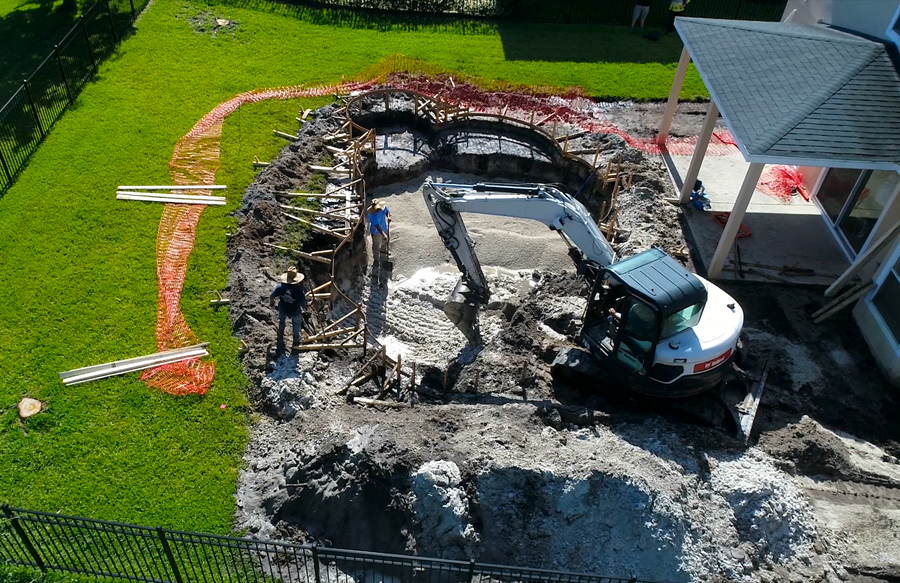Excavation for inground pool