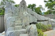 gunite-steps-to-pool-rock-waterfall-slide