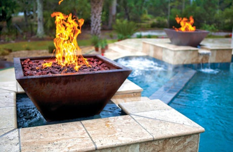 Swimming Pool Fire Features 15 Hot Examples In Photos