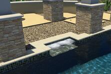 jetted-loveseat in- swimming-pool