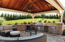 Outdoor Kitchen Under A Pavilion