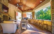 Outdoor Living Room Under Pavillion