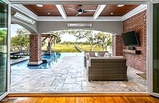 Pavillion Outdoor Living Room With TV Monitor