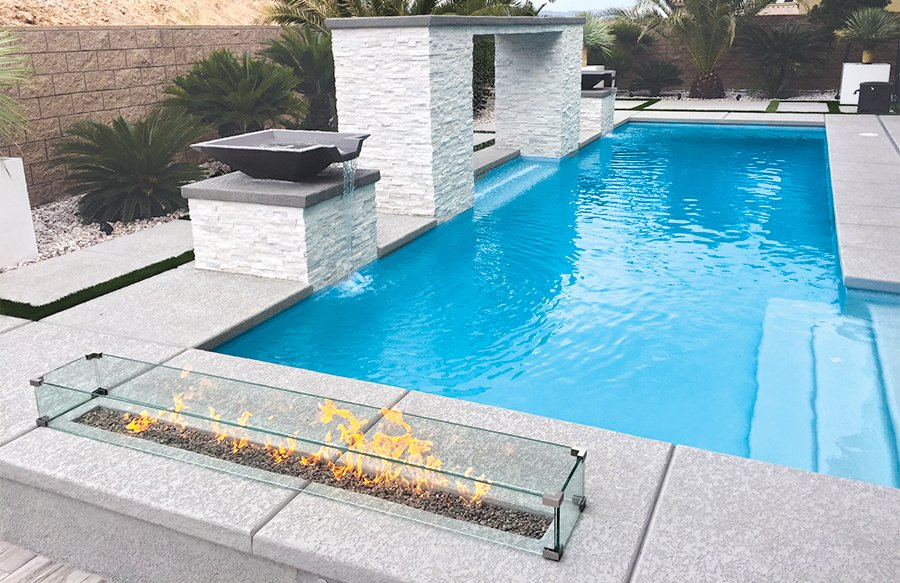 Pool Deck Acrylic Finish Concrete