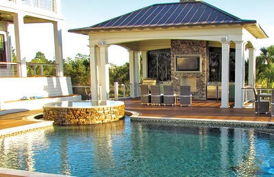 Custom Poolside Kitchen Layouts Planning Ideas
