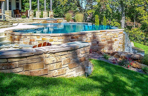 semi-out-of-ground-gunite-pool-on-a-slope