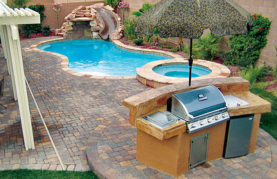small-outdoor-kitchen-by-pool