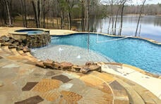 sports-pool-with-volleyball-net