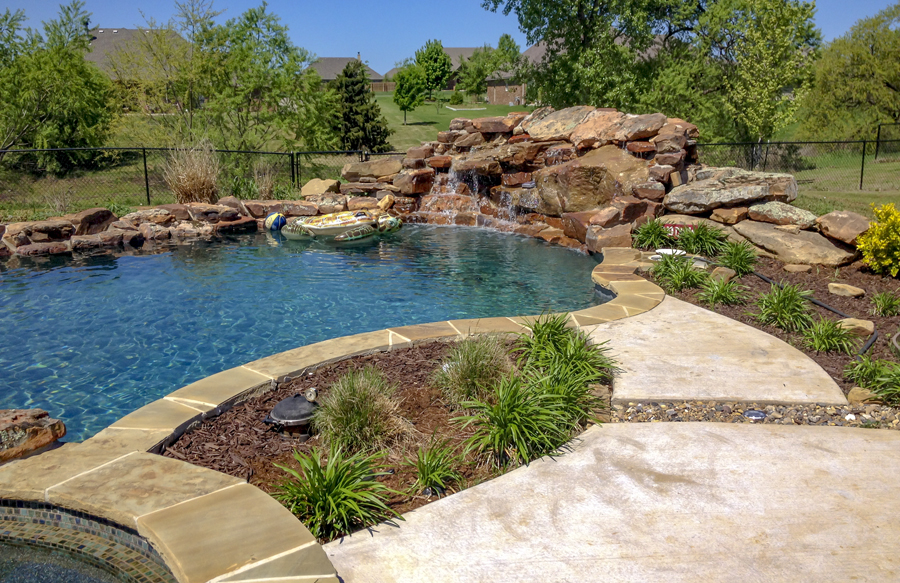 Swimming Pool With Landscape Pocket