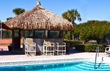 Tiki Hut Bar Poolside