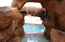waterfall-coming-down-inside-pool-grotto