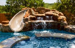 low-profile-waterslide-on-gunite-pool-