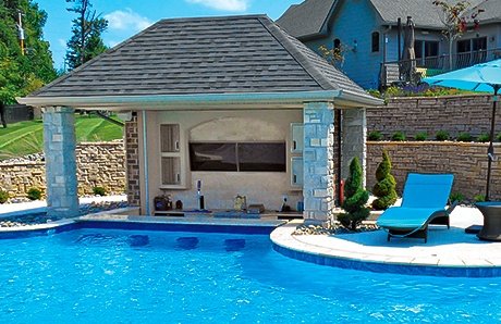 What is a swim up pool bar and how to add one to your for Pool design with bar
