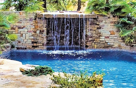 10grotto_pool_wall_in_cut_stone_san_antonio - Swimming Pools With Grottos