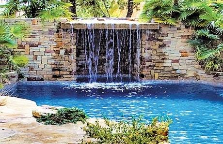 10Grotto Pool Wall In Cut Stone San Antonio