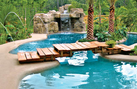 ten affordable swimming pool grotto designsin picturesfor your backyard