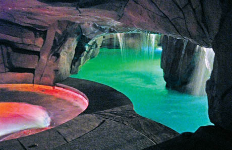 8Pool Spa Grotto Interior With LED Lights Las Vegas
