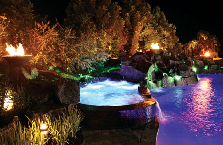 Swimming Pool Fire Features