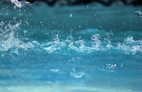 Rain on pool