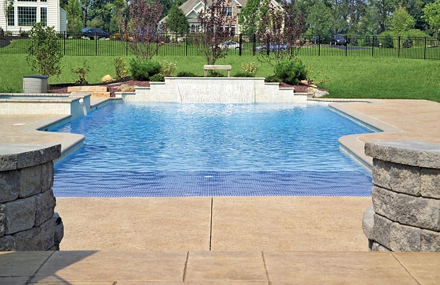 Beach Entry Pool Chlorinated