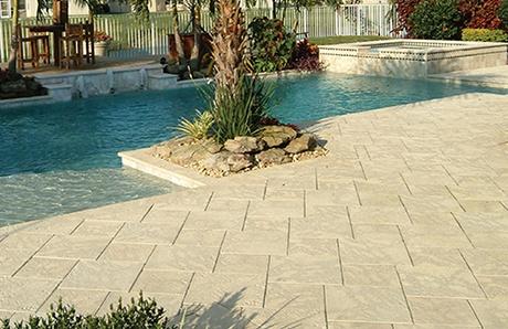 Concrete Paver Stones Benefits For Your Pool Deck